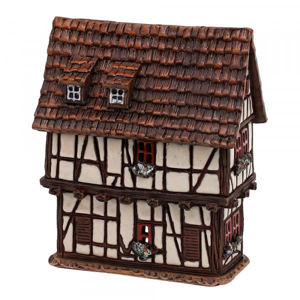 Keramik Licht-Duftölhaus (in Schornstein) Spitzhäuschen 12 x 7 x 14 cm