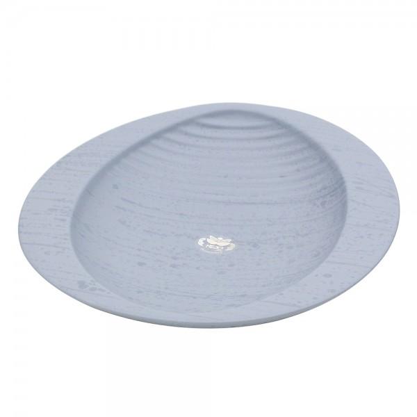 Keramik Schale Linea, Grau 29 x 28,5 x 4,5 cm
