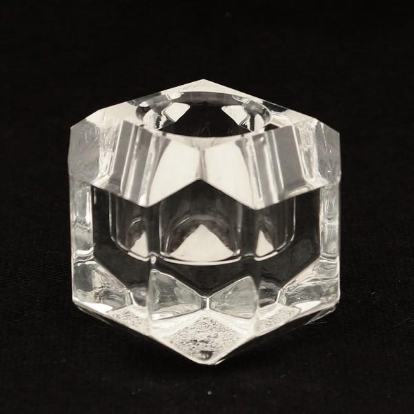 Glas Leuchterkerzenhalter Quadrat, klar 5 x 5 x 4,5 cm