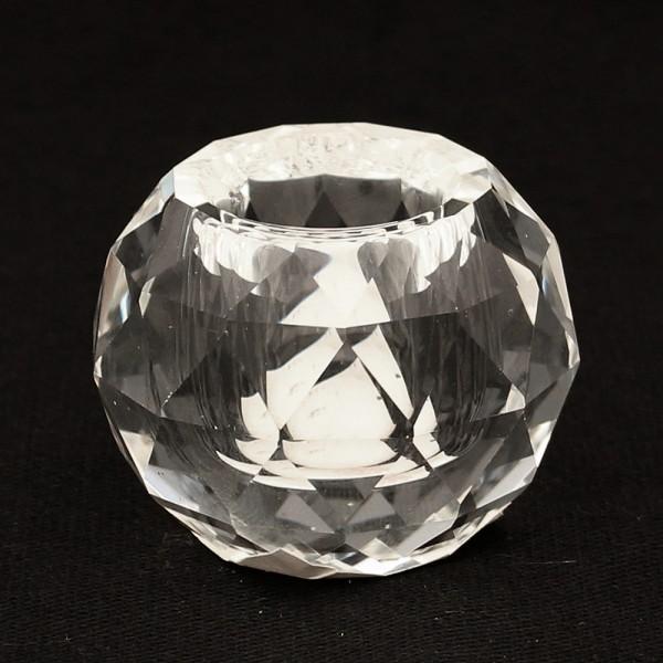 Glas Leuchterkerzenhalter rund, klar 5 x 5 x 4,5 cm