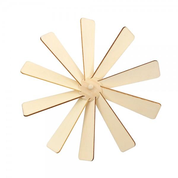 Holz Flügelrad komplett 15,5 x 15,5 x 2 cm