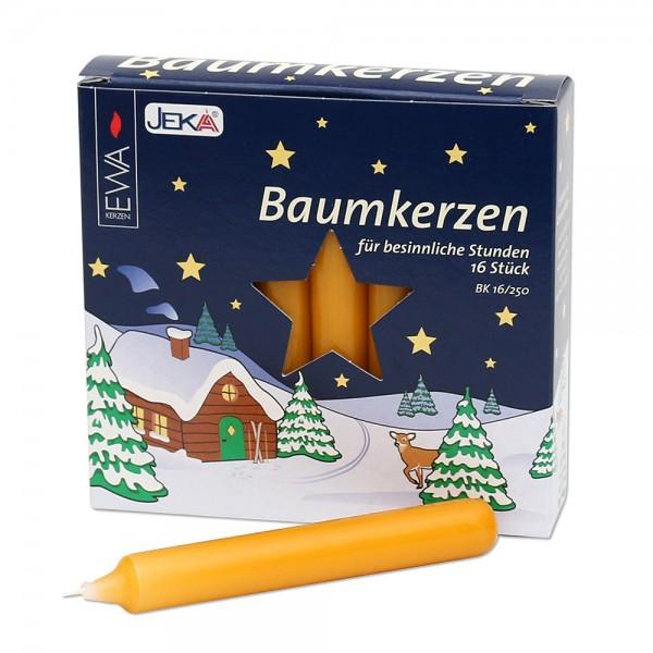 16er Baumkerzen, natur 1,4 x 1,4 x 11,5 cm