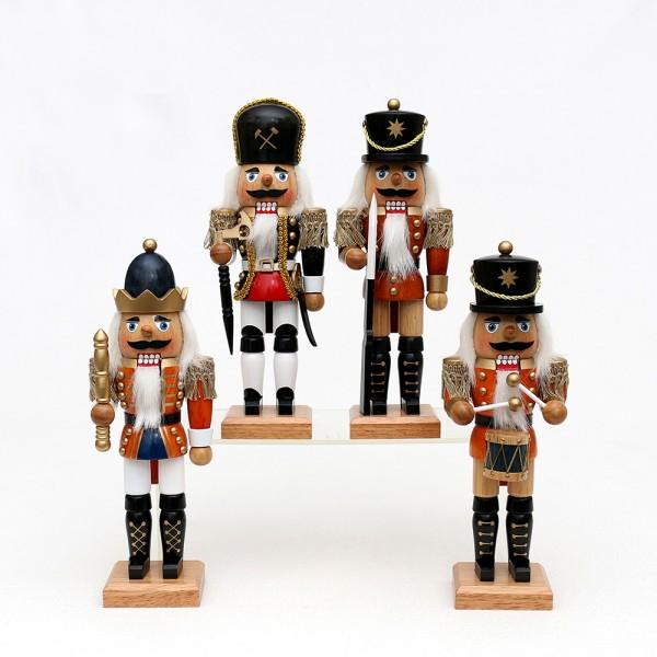 Holz Nussknacker edel 4-fach sort. 8,5 x 6 x 24 cm im Set