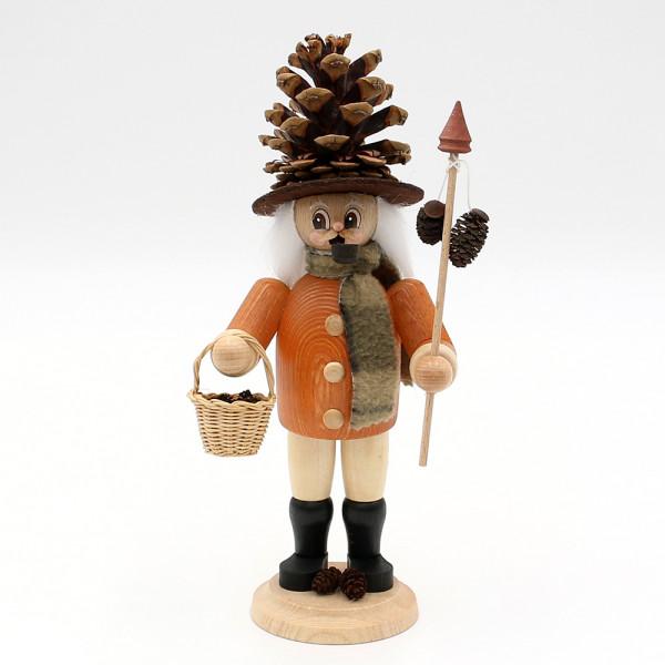 Holz Räuchermann Uwe der Zapfenwichtel 11 x 9 x 24 cm