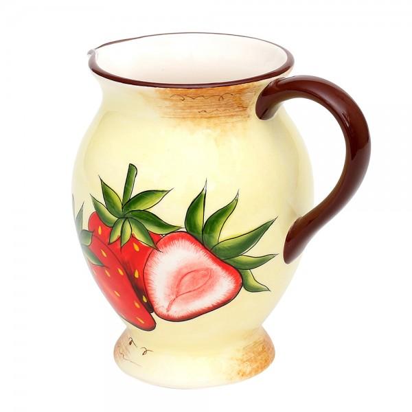 Dolomite Krug Erdbeere 16,5 x 12 x 15,5 cm