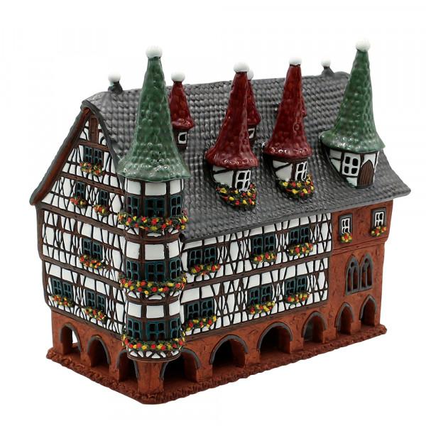 Keramik Licht-Duftölhaus (in Schornstein) Rathaus Fulda 25 x 14 x 20 cm