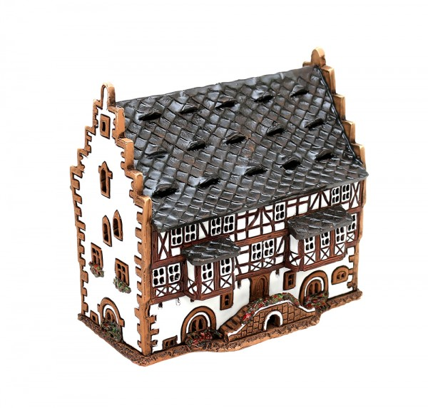 Keramik Licht-Duftölhaus (in Schornstein) Goldschmiede Haus - Hanau 9 x 15 x 13,5 cm