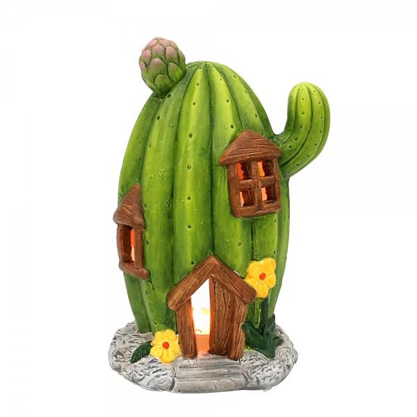 Keramik Lichthaus Kaktus 13 x 11 x 20,5 cm