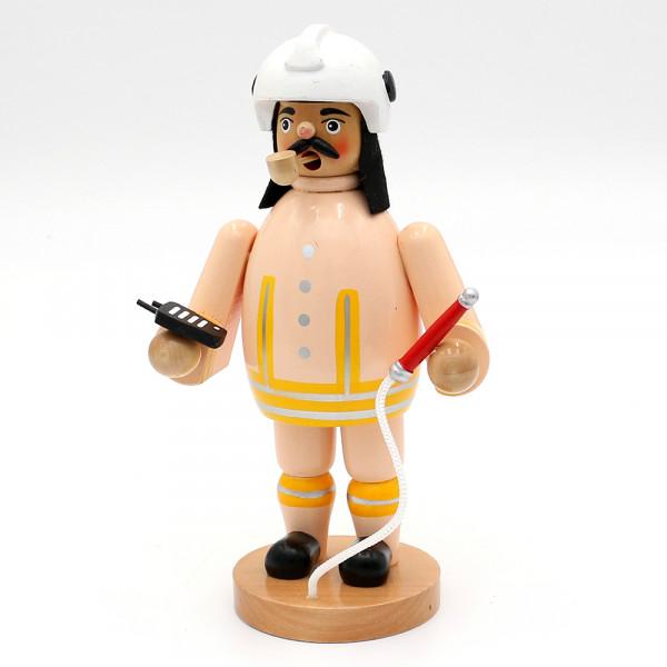 Holz Räuchermann Feuerwehrmann, beige 12 x 9,5 x 20 cm