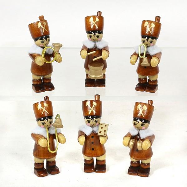 6er Set Holz Winterfiguren Bergleute 6-fach sort. 2 x 2 x 6 cm im Set