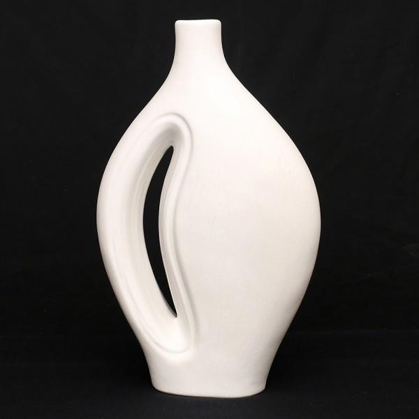 Keramik Vase Sina, Weiß 26,5 x 11 x 43 cm XXL