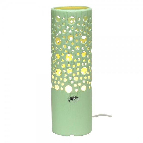 Keramik Zylinderlampe Stella (Leuchtmittel nicht enthalten), SAVA 11 x 9 x 34 cm 230 V Kabel, E14