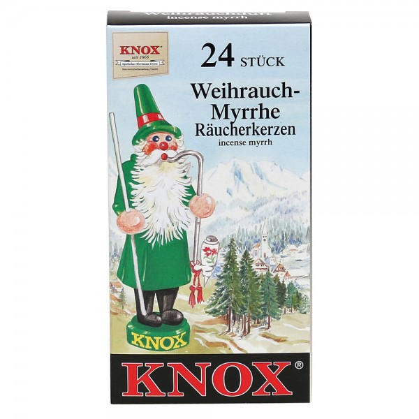 KNOX-Räucherkerzen Weihrauch - Myrrhe 6,5 x 2,2 x 12,5 cm