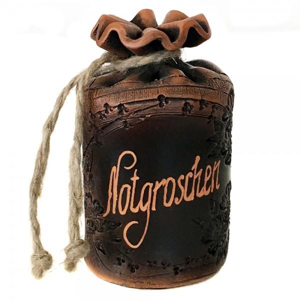 Keramik Sparsack Notgroschen, braun 8,5 x 8,5 x 14,5 cm