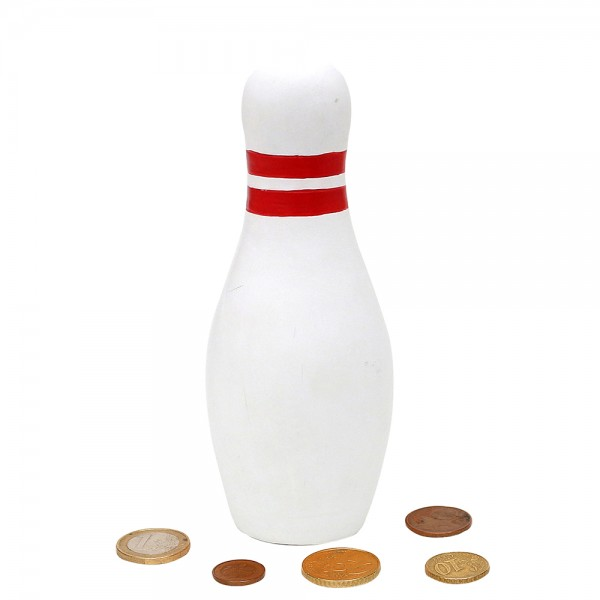 Keramik Spardose Bowling Kegel 8 x 8 x 20,5 cm