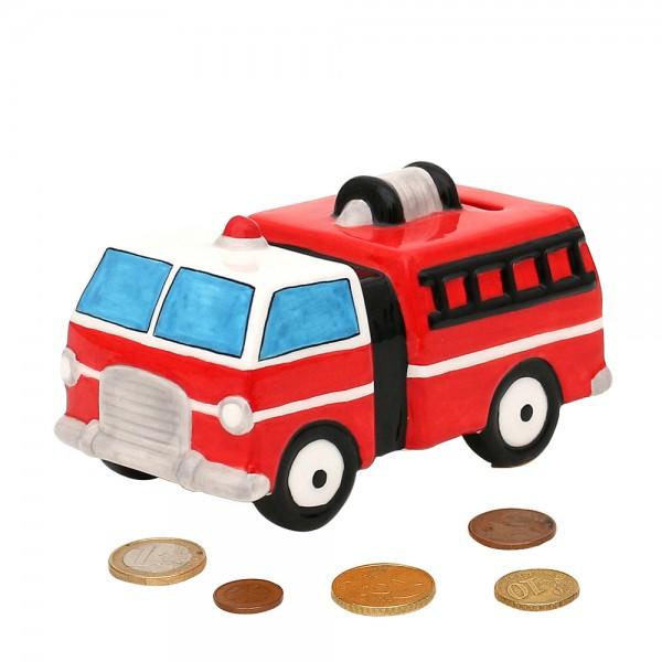 Dolomite Spardose Feuerwehrauto 15 x 8,3 x 8 cm