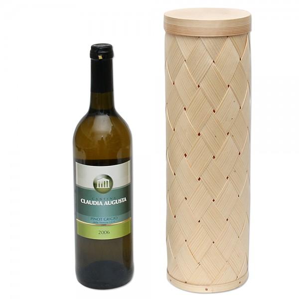 Holz Spandose für 1 Weinflasche, natur 10 x 10 x 34 cm