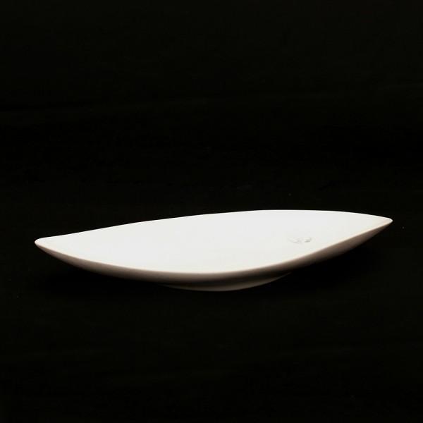 Keramik Schale Dorado, Weiß 36,5 x 14,5 x 4,5 cm