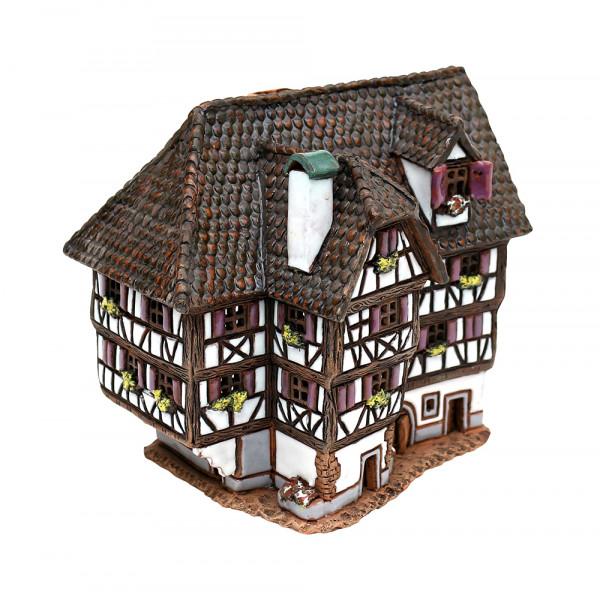 Keramik Licht-Duftölhaus (in Schornstein) Hotel Obernai Elsas 10 x 14 x 13,5 cm
