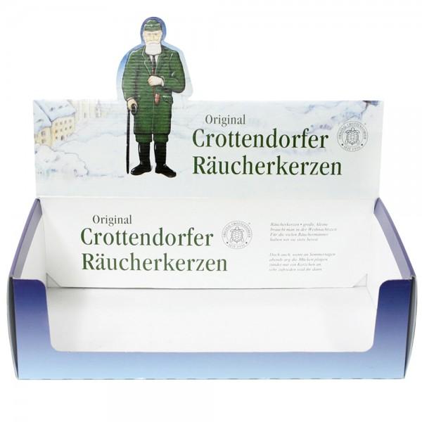 leeres Display für 60 Packungen Crottendofer-Räucherkerzen zum Selbstbestücken 38 x 22,5 x 11 cm
