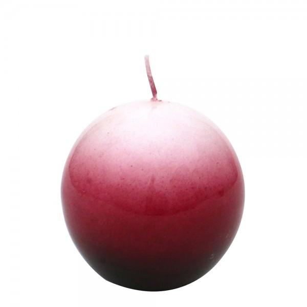Airbrushkerze gelackt, burgund 6 x 6 x 6 cm