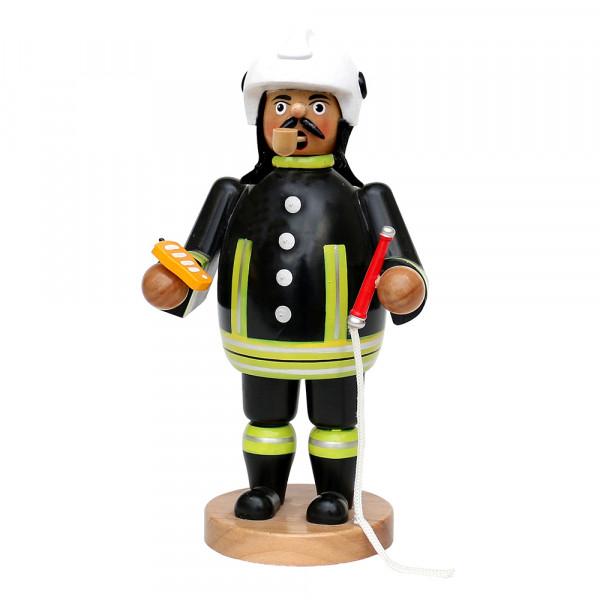 Holz Räuchermann Feuerwehrmann, schwarz 12 x 9,5 x 20 cm