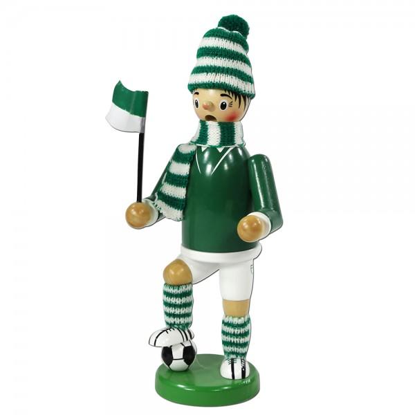 Holz Räuchermann Fußballer, grün/weiß 9 x 7 x 24 cm