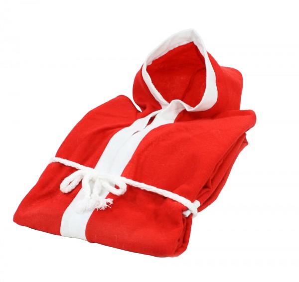 Filz Weihnachtsmann-Mantel mit Kapuze, rot