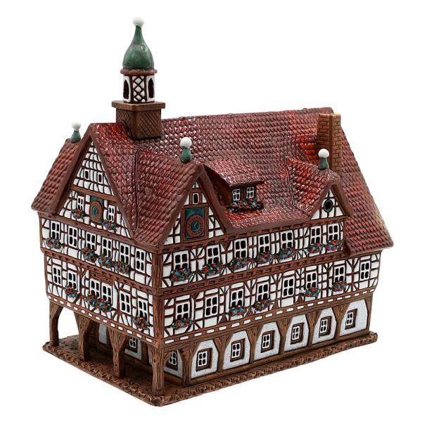 Keramik Licht-Duftölhaus (in Schornstein) Bad Urach Rathaus 23 x 15 x 23 cm