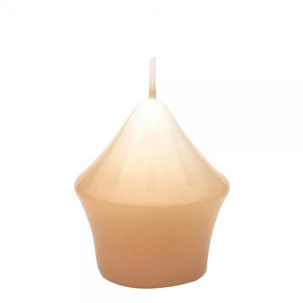 Miniturm, Creme gelackt 5,5 x 5,5 x 7,5 cm