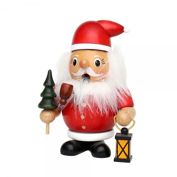 Holz Räuchermann bauchig klein Weihnachtsmann 8 x 7 x 12 cm