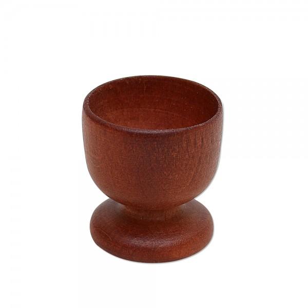 Holz Eierbecher, braun 4,5 x 4,5 x 5 cm