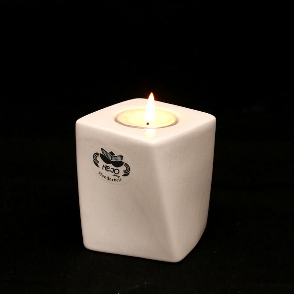 Keramik Kerzenhalter Samba, Weiß 7 x 7 x 8,5 cm