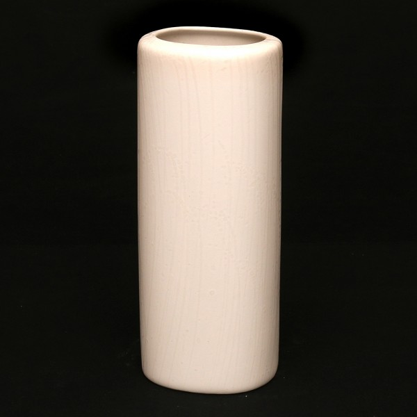 Keramik Zylindervase, Weiß 10 x 9 x 24,5 cm