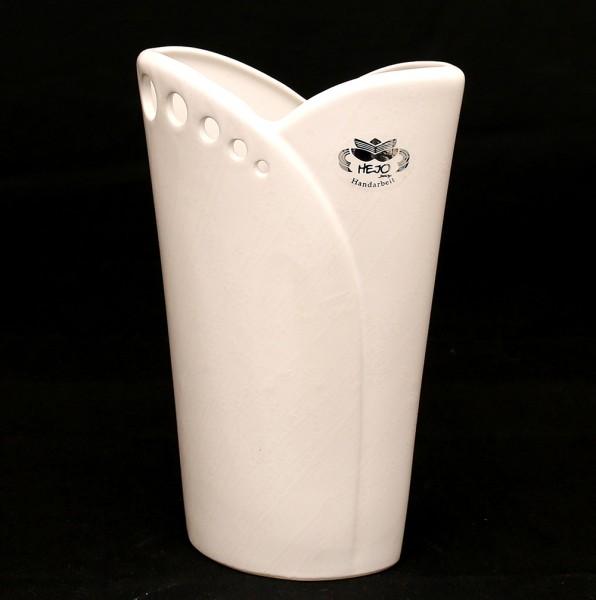 Keramik Vase Riva mit Löchern, Weiß 20 x 9 x 34 cm