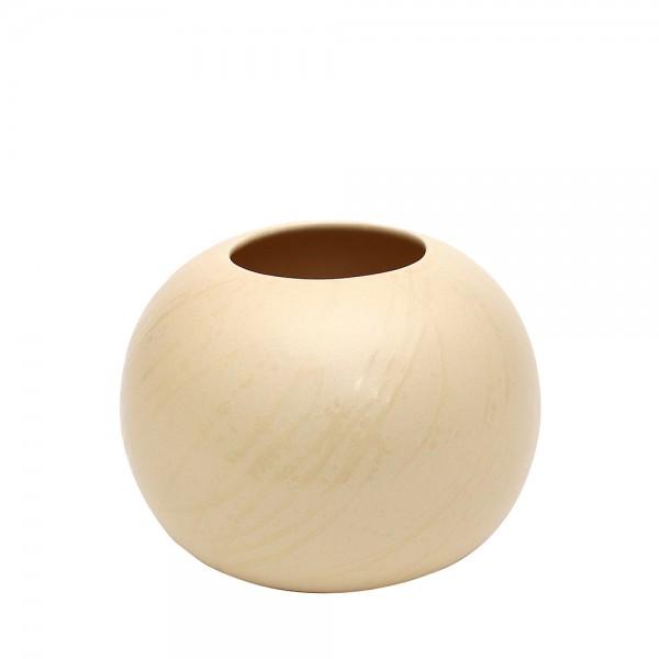 Keramik Vase Orion, Champagner 13 x 13 x 10,5 cm