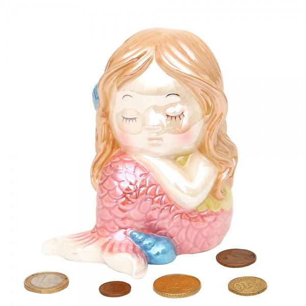 Dolomite Spardose Meerjungfrau 10,4 x 8,5 x 12,8 cm