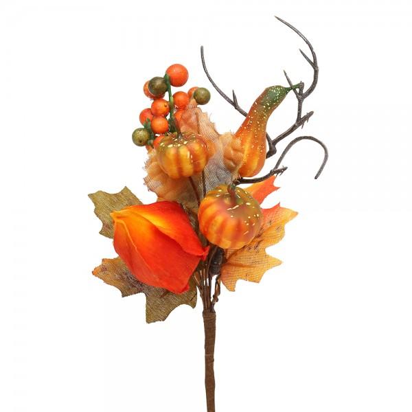 Plastik Herbst-Deko-Pic Physalis 18 x 8 x 5,5 cm