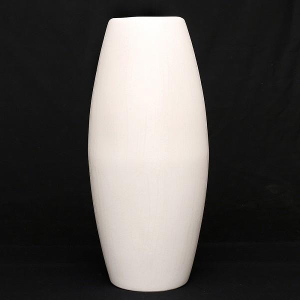 Keramik Bodenvase Remo, Weiß 20 x 20 x 46 cm XXL