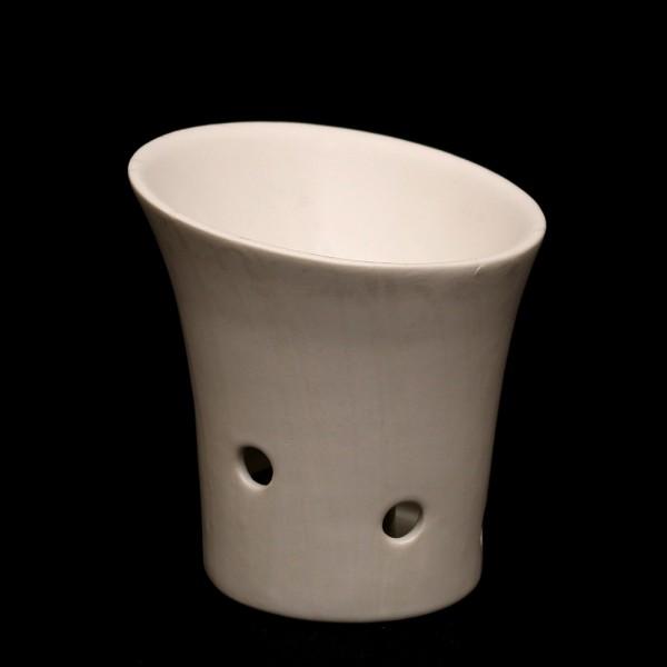 Keramik Duftlampe, Weiß 10,5 x 10,5 x 11 cm