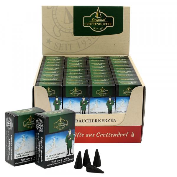 Crottendorfer-Mini-Räucherkerzen Weihrauch VE Achtung! Neu jetzt im Display zu 60 Stück = VE 1 29 x 15,5 x 5,5 cm