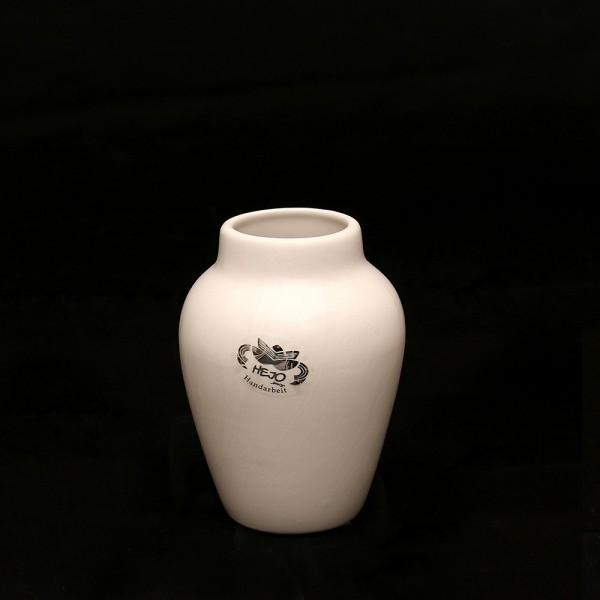 Keramik Vase Clip, Weiß 9,5 x 9,5 x 13 cm
