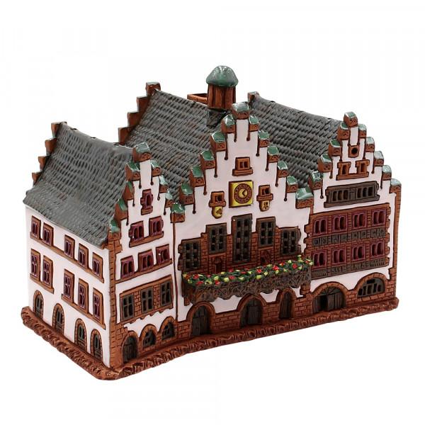 Keramik Licht-Duftölhaus (in Schornstein) Römer Frankfurt 23 x 14 x 16 cm