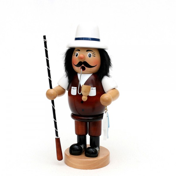 Holz Räuchermann Angler 11 x 9 x 24 cm XL