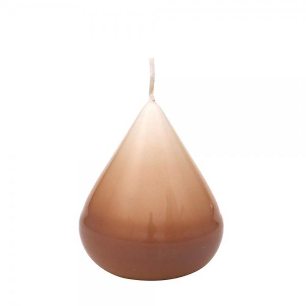 Zwiebelkerze, Cappuccino gelackt 5,5 x 5,5 x 7,5 cm