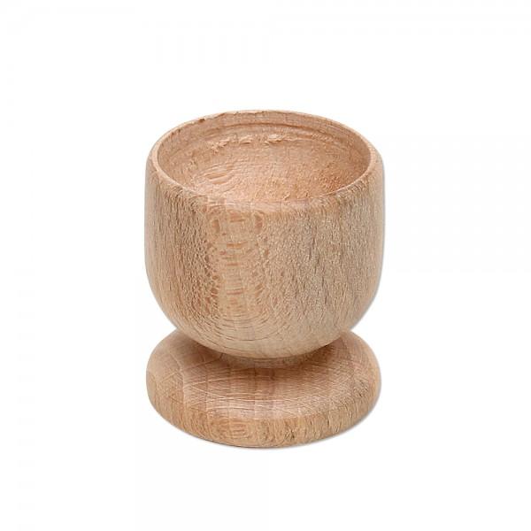 Holz Eierbecher, natur 4,5 x 4,5 x 5 cm