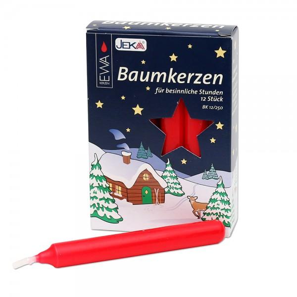 12er Baumkerzen, rot 1,5 x 1,5 x 12,5 cm