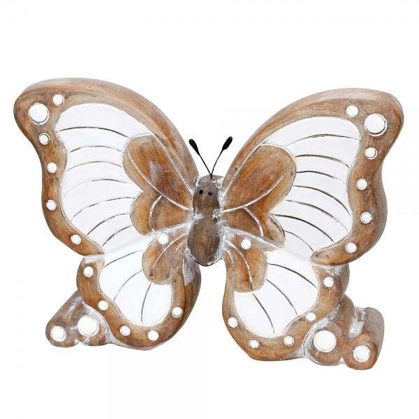 Keramik Schmetterling, grau/braun 24 x 6 x 17,5 cm