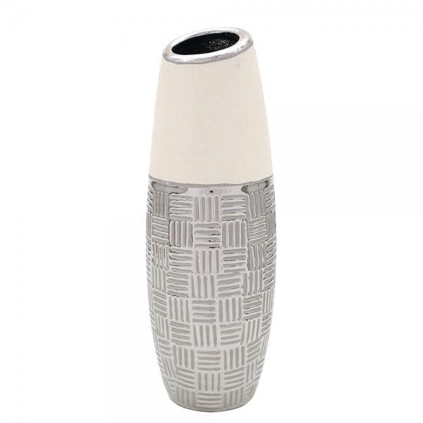 Keramik Vase Bali lang mit schräger Öffnung 11 x 10,5 x 32 cm