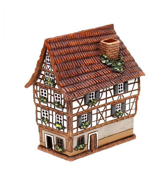 Keramik Licht-Duftölhaus (in Schornstein) Esslingen Restaurant Rose 11 x 12 x 13,5 cm